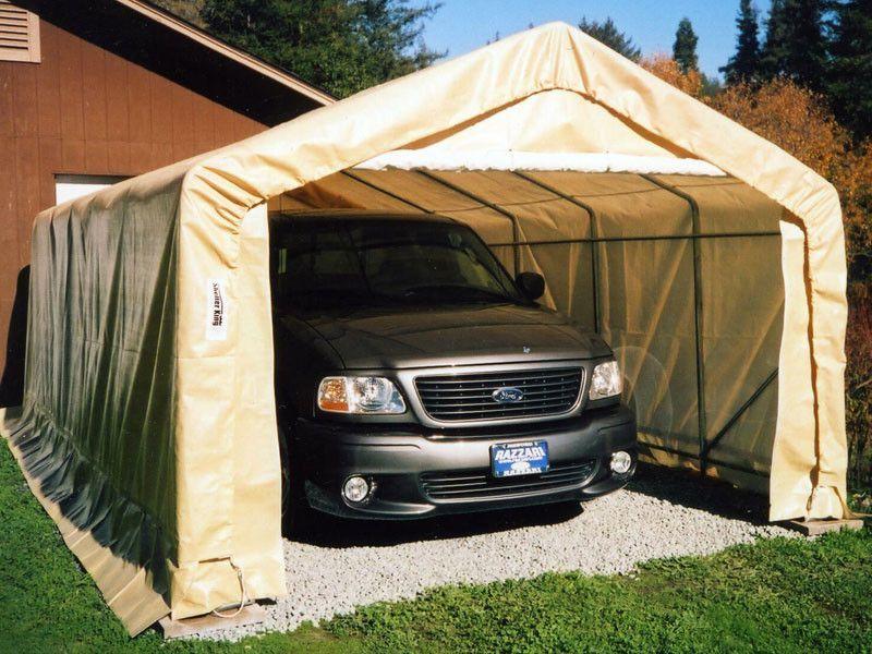 Rhino One Car Garage (House Style). 12'x20' Portable