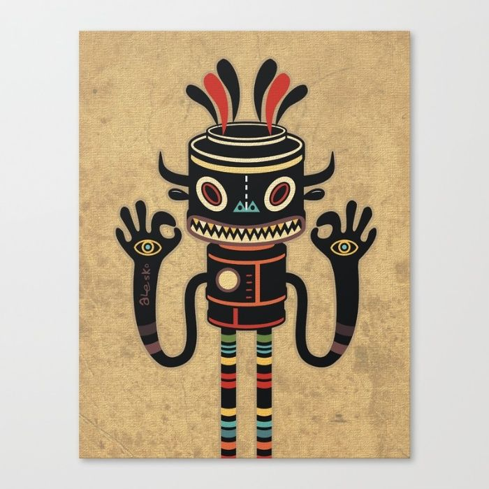 CANVAS PRINT SMALL  Tribe Gathering by Exit Man