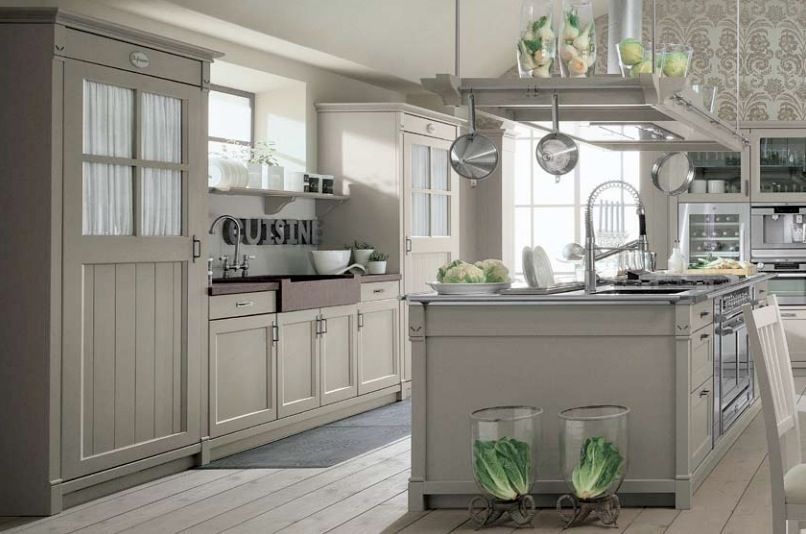 Kitchens designs french country kitchen design modern for Modern country kitchen designs