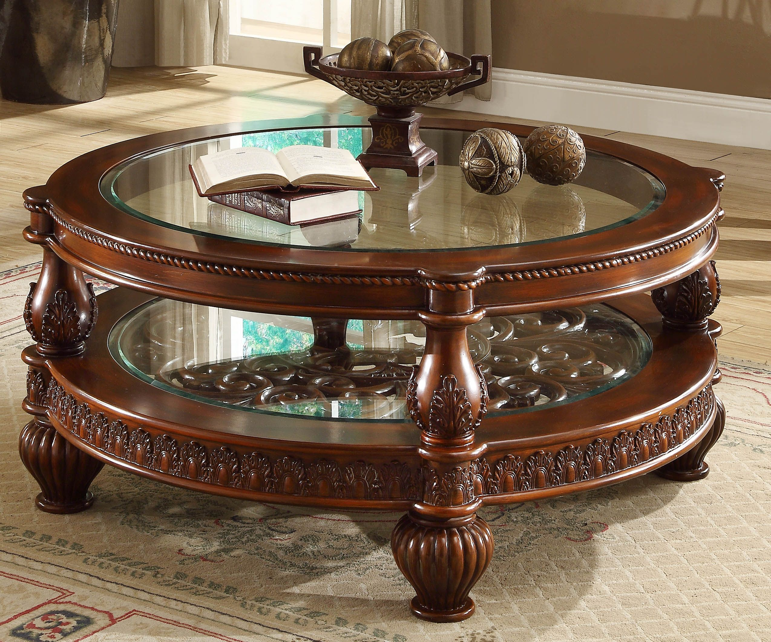 17+ Vintage coffee table with glass top trends