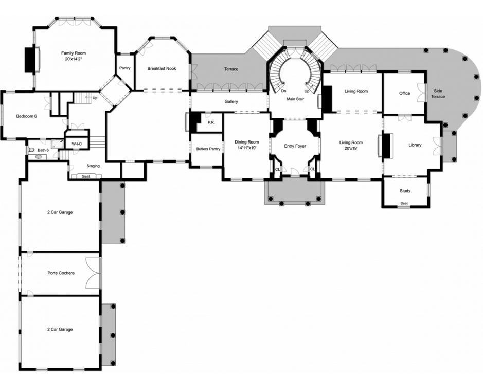 Main Floor Nj Stone Mansion Mansions Mansion Floor Plan