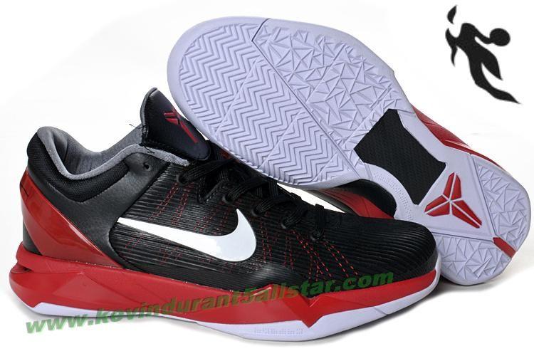 9f7373a3411f Hot Nike Zoom Kobe 7(VII) NBA Shoes Black White Red