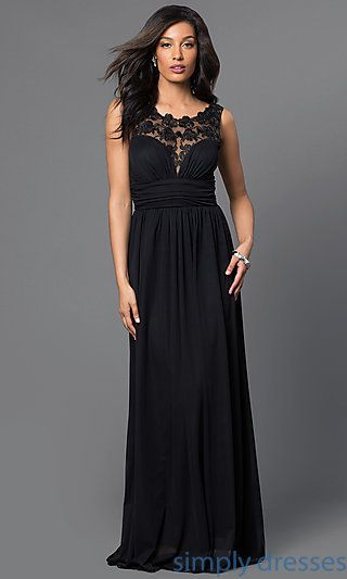 Tw 4069 Illusion Lace Floor Length Sleeveless Formal Dress Cheap