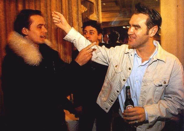 Suede: Brett Anderson & Morrissey, Q Awards, 1993.