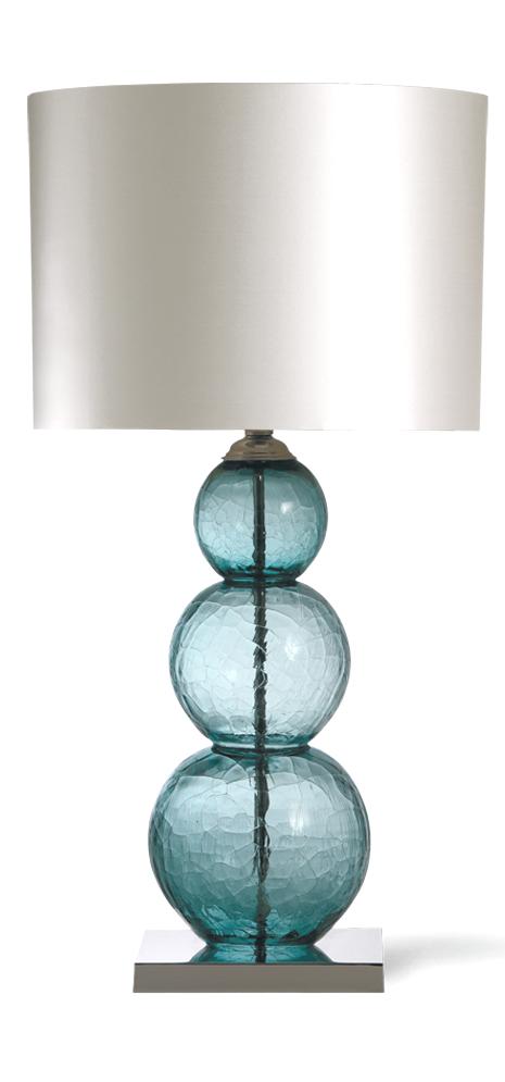 Table Lamps Designer Crackled Blue Art Glass Table Lamp So
