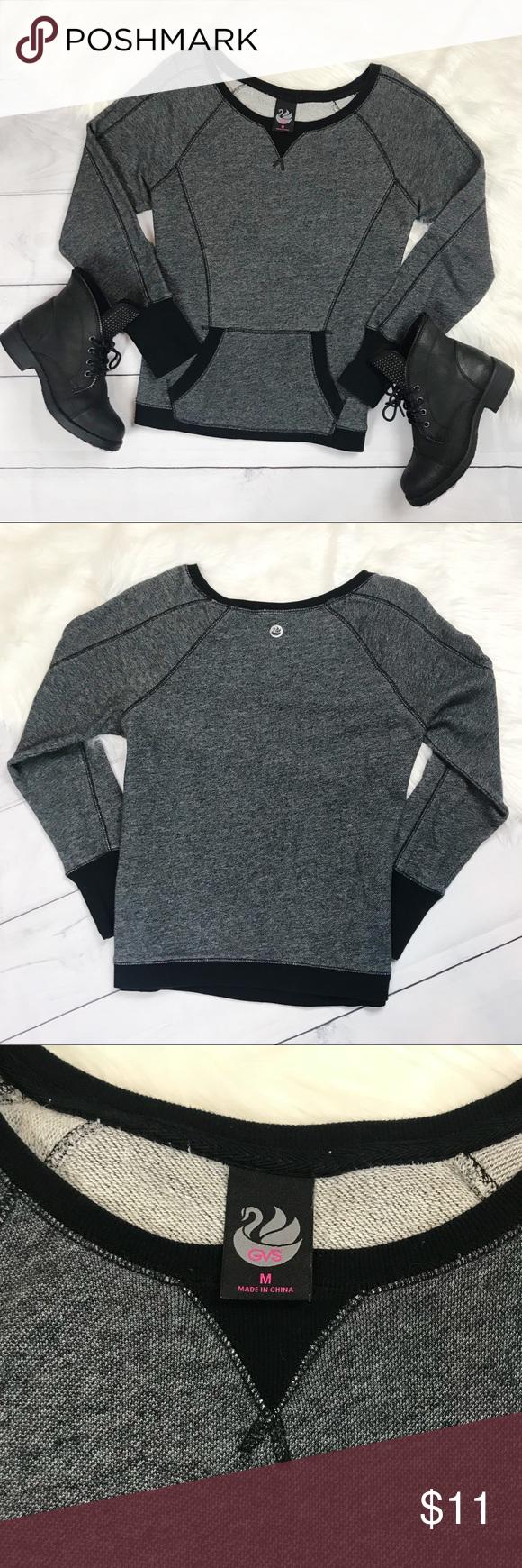 Gvs Pullover Sweatshirt Sweater Gray Black Medium Sweaters Grey Sweater Sweater Material [ 1740 x 580 Pixel ]