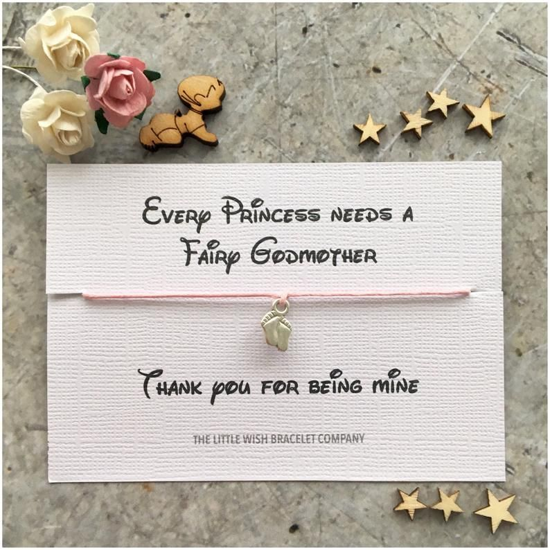 Disney Princess Thank You For Being My Fairy Godmother Wish Etsy
