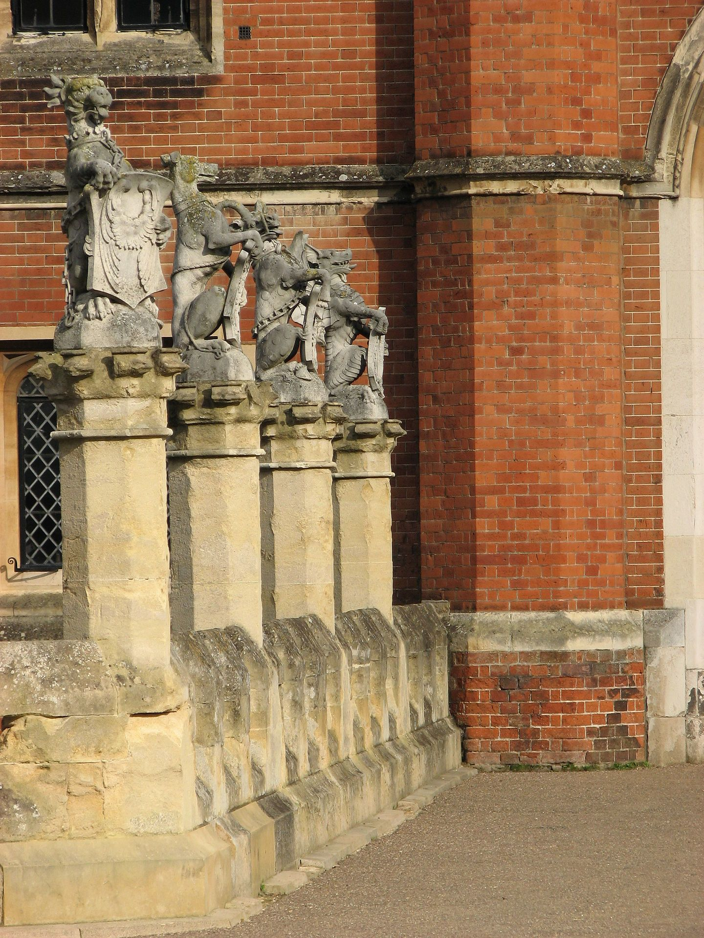 The King's Beasts. There are ten statues of heraldic