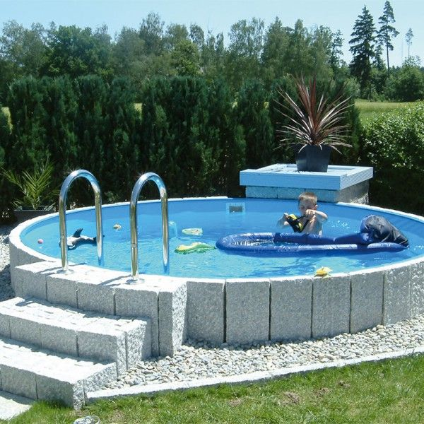 rundbecken 0 90 m tief folie 0 6 mm blau pool ideals garten pool im garten pool ideen. Black Bedroom Furniture Sets. Home Design Ideas