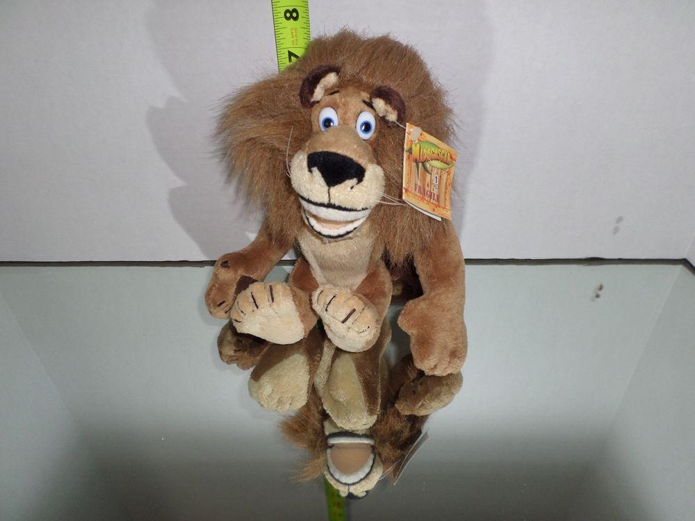 Madagascar Plush Lion Alex Toy Doll Movie NWT Jungle Dreamworks ...