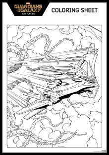 Free Guardian Of The Galaxy Coloring Page Ship