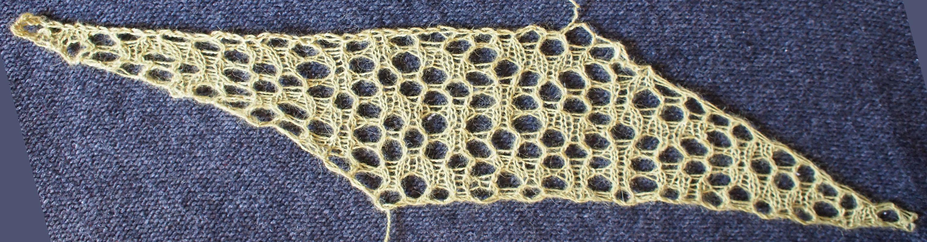 Prism: a free lace knitting stitch pattern | SWzory | Pinterest ...
