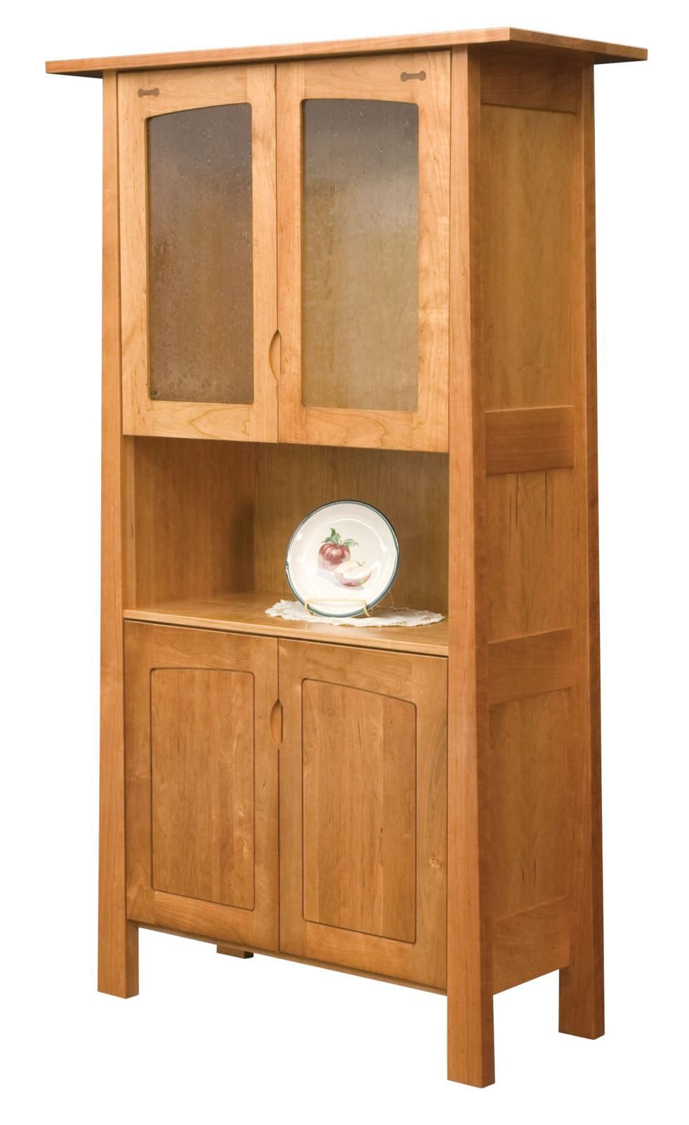 Lucas 2Door Cherry China Hutch  Small Dining Rooms Small Dining Fascinating Small Hutches Dining Room Review