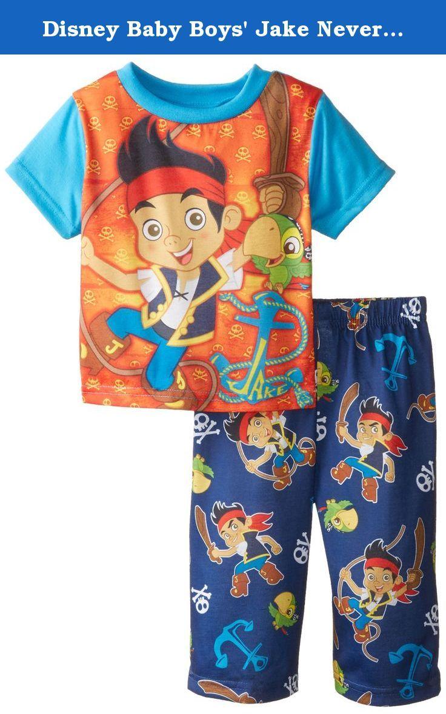 c762f2aaeb24 Disney Baby Boys  Jake Neverland Pirate Anchors Aways Pajama Se ...