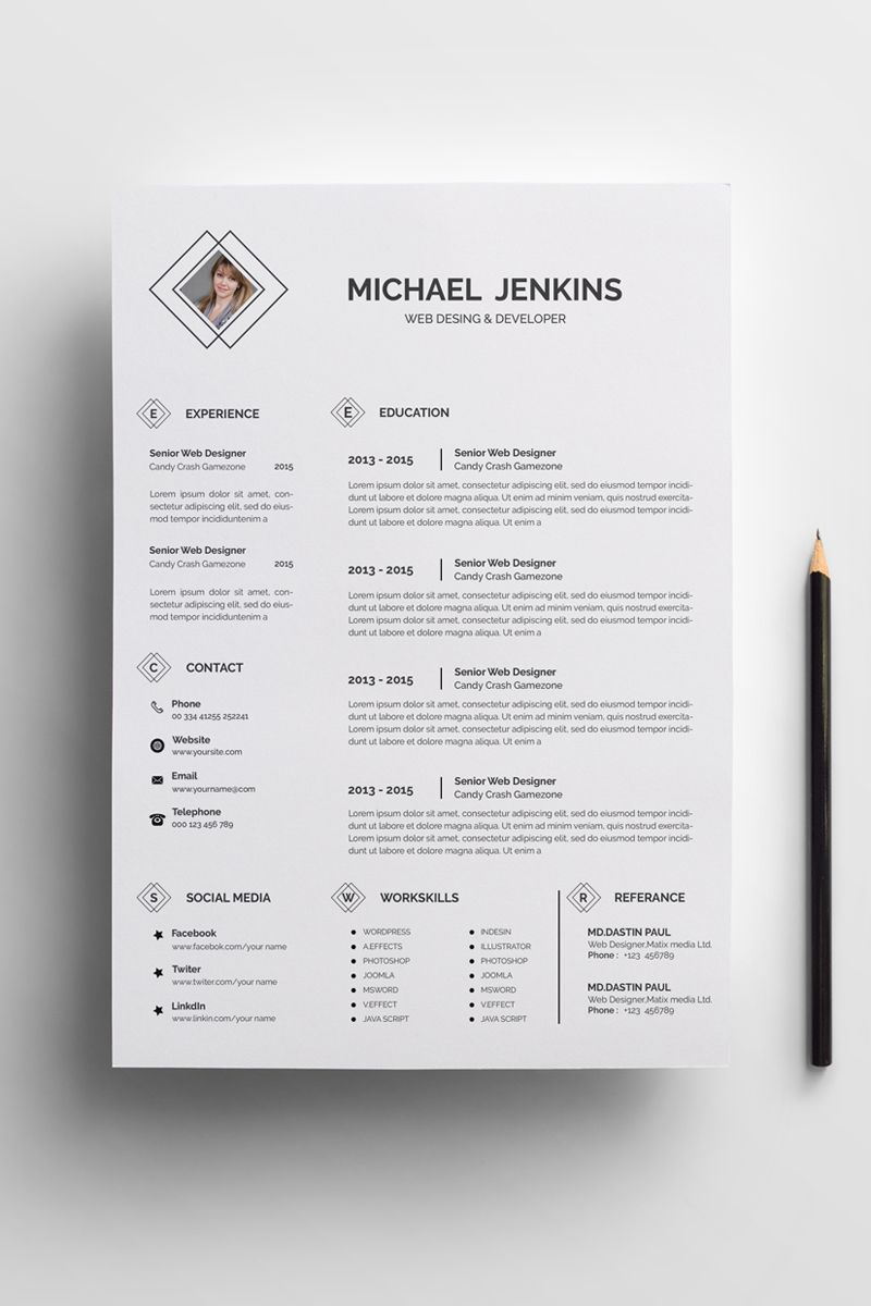 michael classic resume template