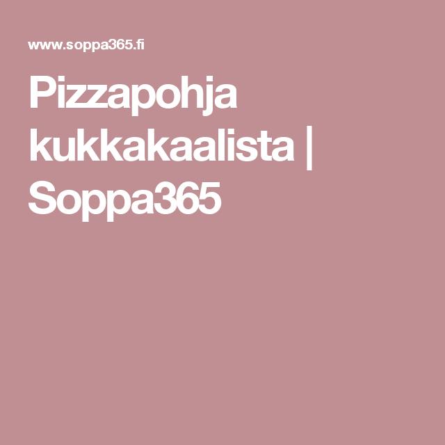 Pizzapohja kukkakaalista | Soppa365