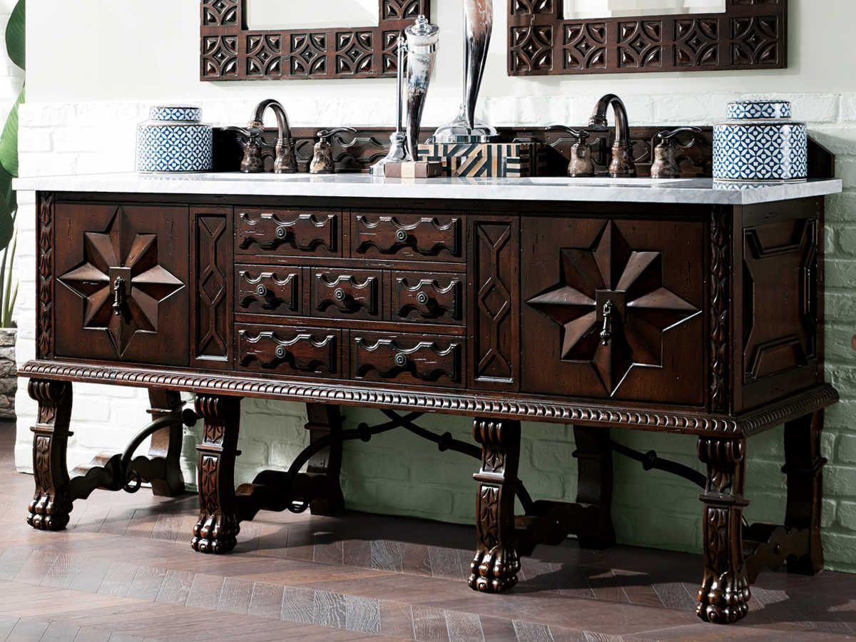 James Martin Furniture Balmoral Antique Walnut 72'' Wide ...