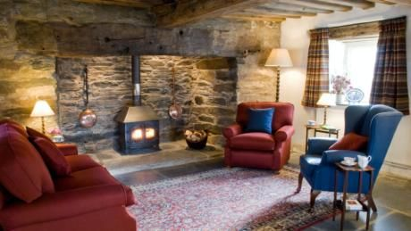 interior sitting room of dyffryn mymbyr cottagecapel curigbetws y coed - Stone Cottage Interiors