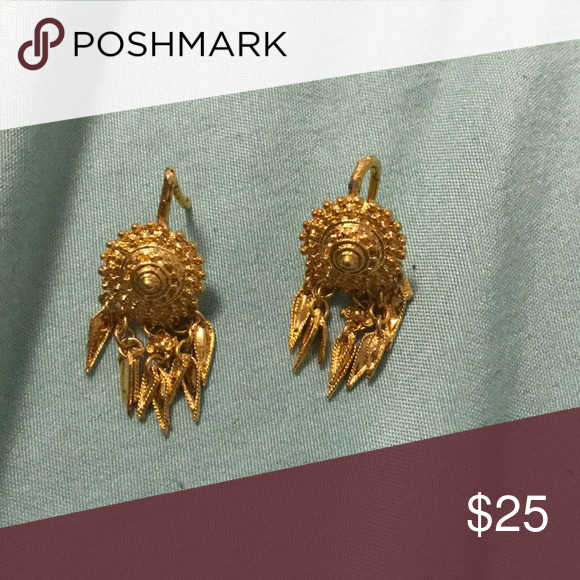 Laos Gold Earrings From Jewelry