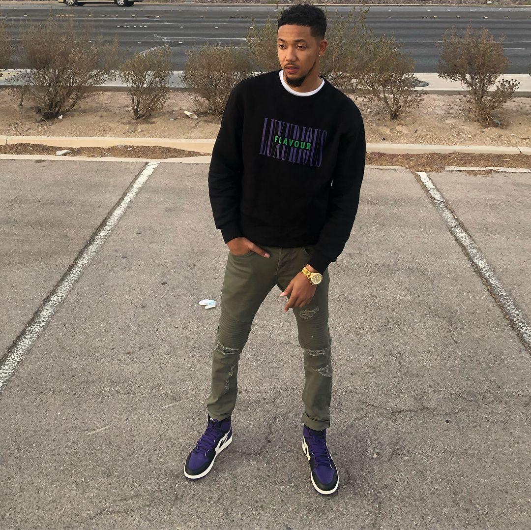Air Jordan 1 Low Purple Outfit