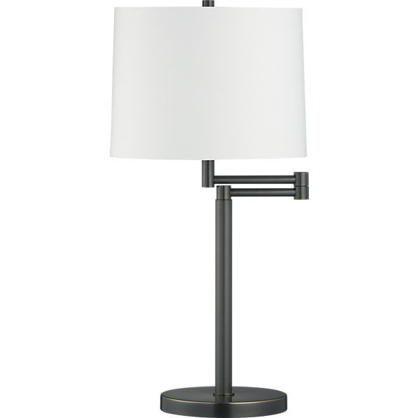 Metro Ii Bronze Swing Arm Table Lamp In Table Desk Lamps Crate