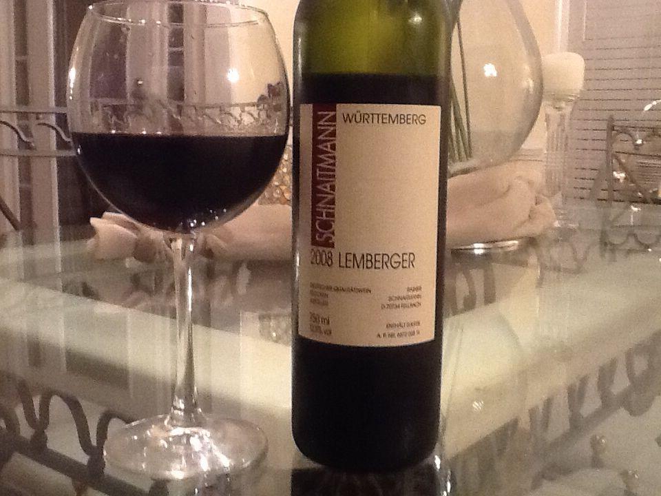 Scandal wine choice 2008 Lemberger black fruit and smooth tannins.