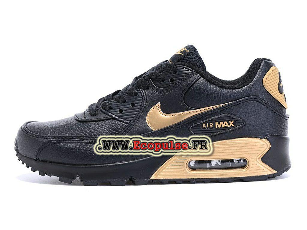 sports shoes ff9ee d5e5f Nike Air Max 90 Chaussures Nike Sportswear Pas Cher Pour Femme Or    noir693628-A010