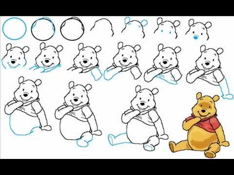 how to draw winnie the pooh step by step