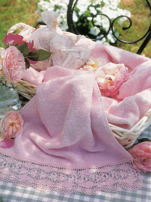 Bordo per asciugamano uncinetto e maglia pinterest for Bordi per lenzuola