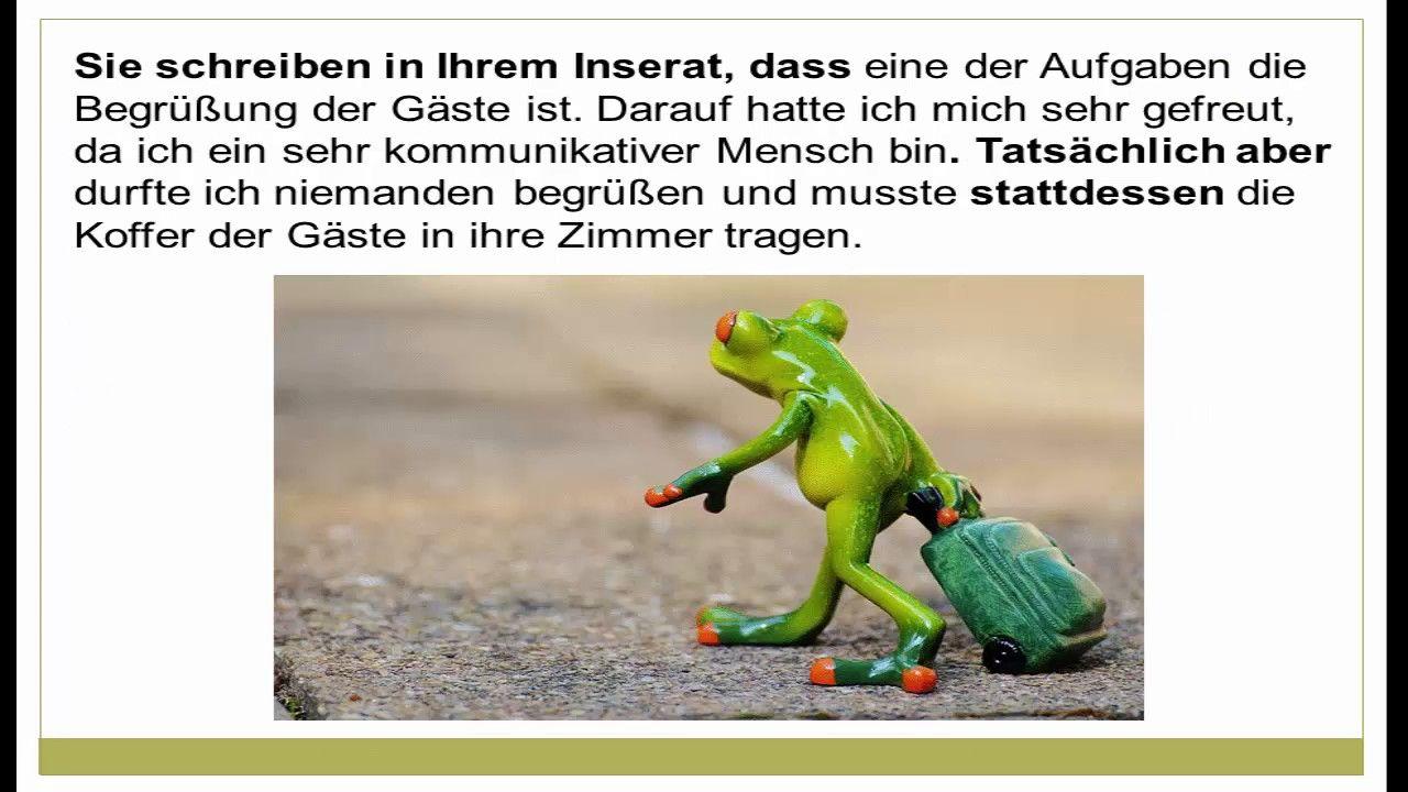 Beschwerdebrief Schreiben Deutsch Lernen Learn German
