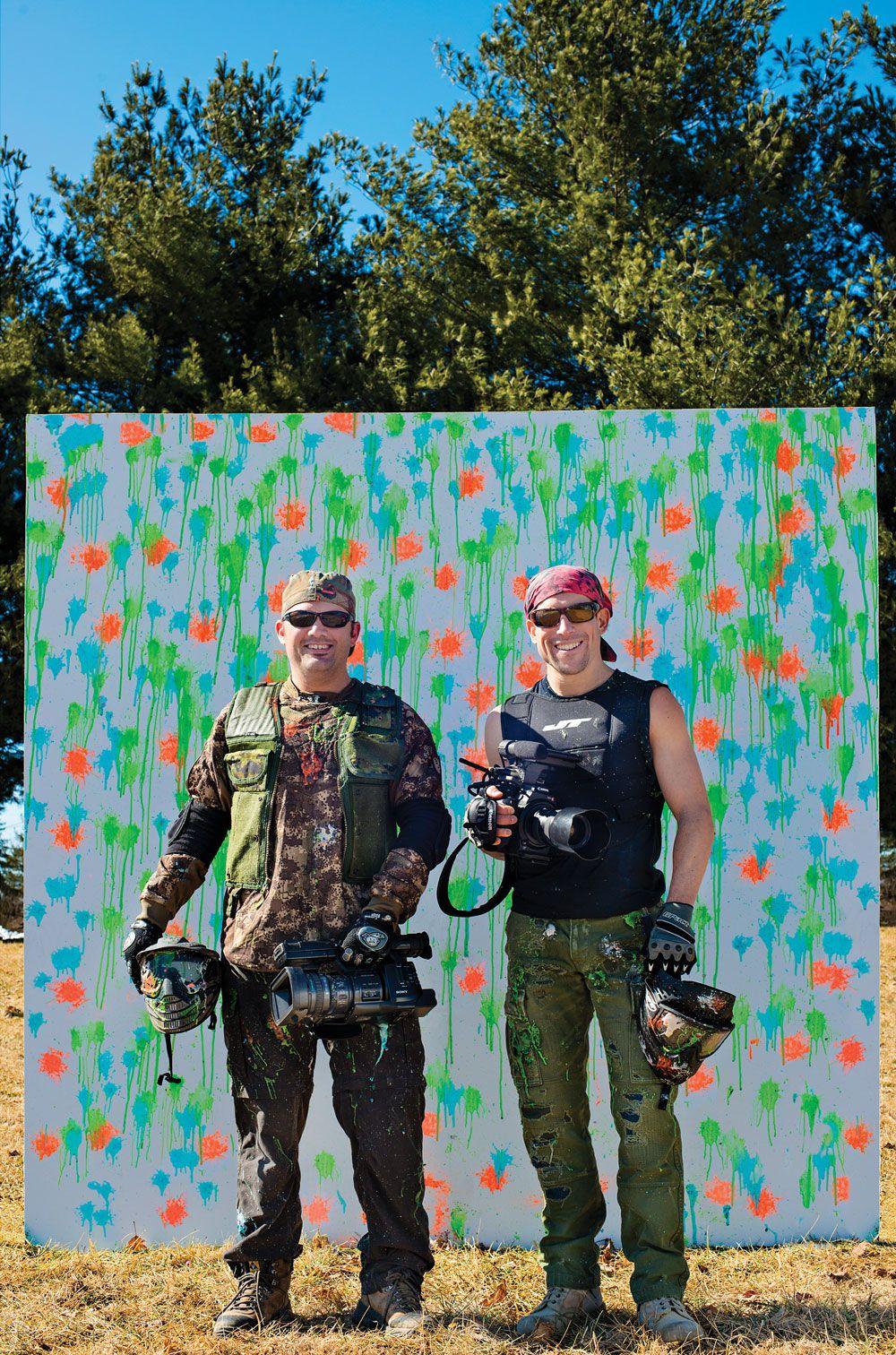 Filmmakers Michael DeChant, left, and Doug Gritzmacher
