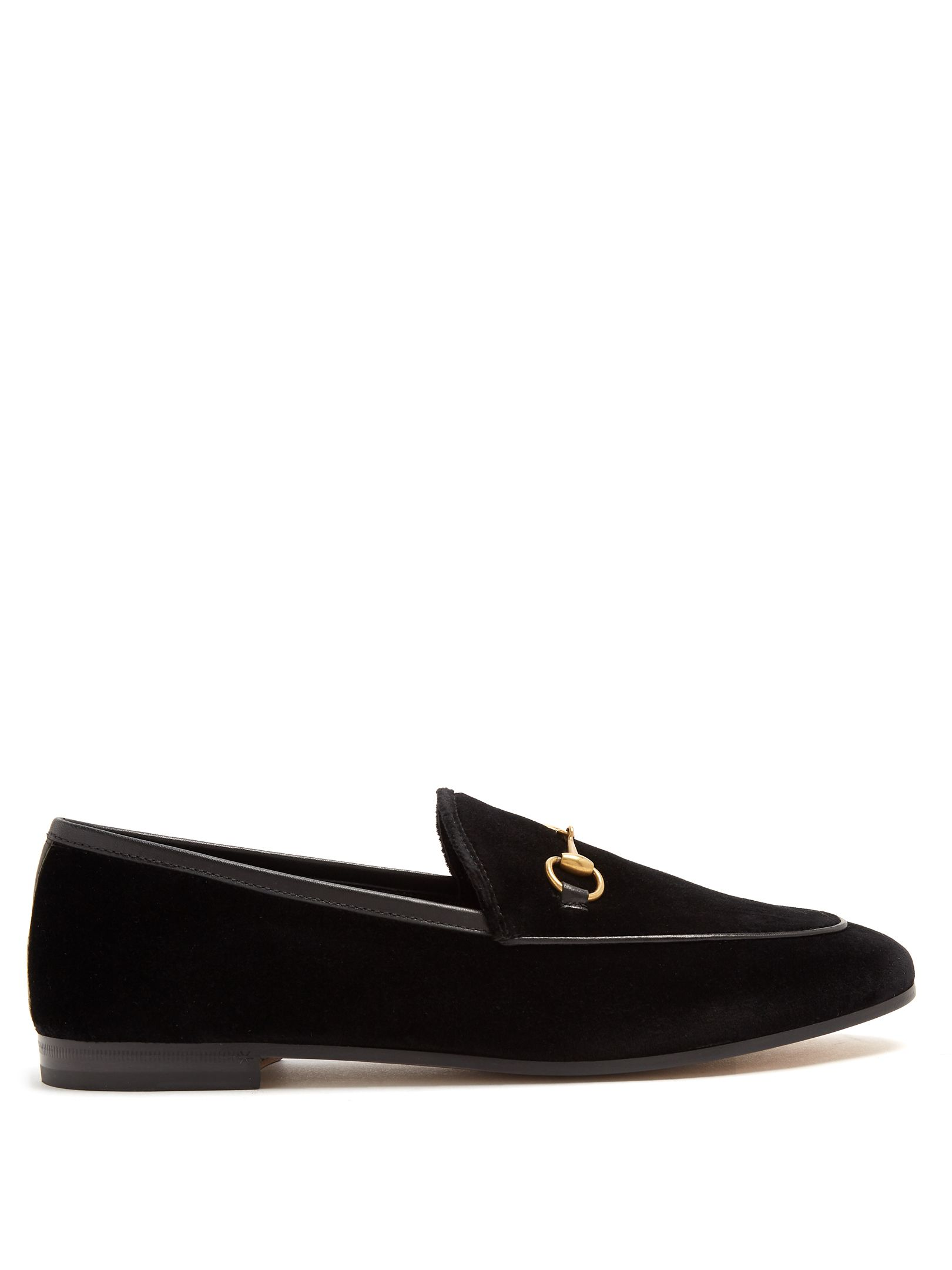 671a5f3365b Click here to buy Gucci Jordaan velvet loafers at MATCHESFASHION.COM ...