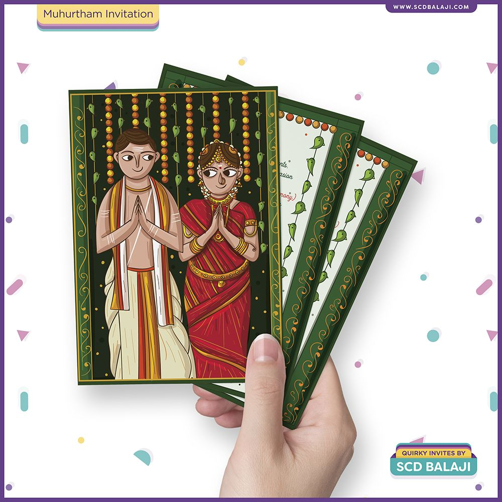 Tamil Brahmin / Iyer Muhurtham Wedding Invitation Design