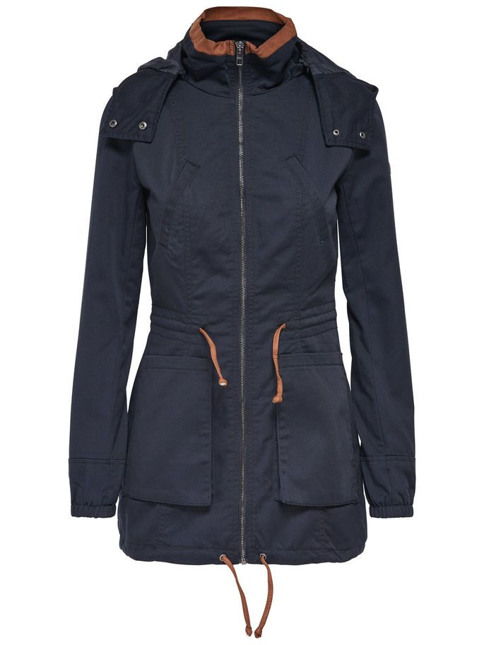 CANVAS PARKA, Blue Graphite, large