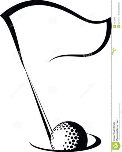 Golf Clipart Black And White Ar Golf Ball Crafts Golf Flag