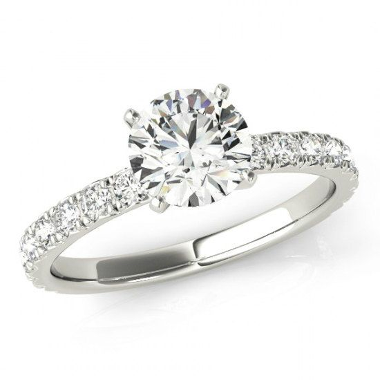 8mm 2 carat forever one moissanite diamond solitaire engagement ring 14k white gold - 2 Carat Wedding Ring