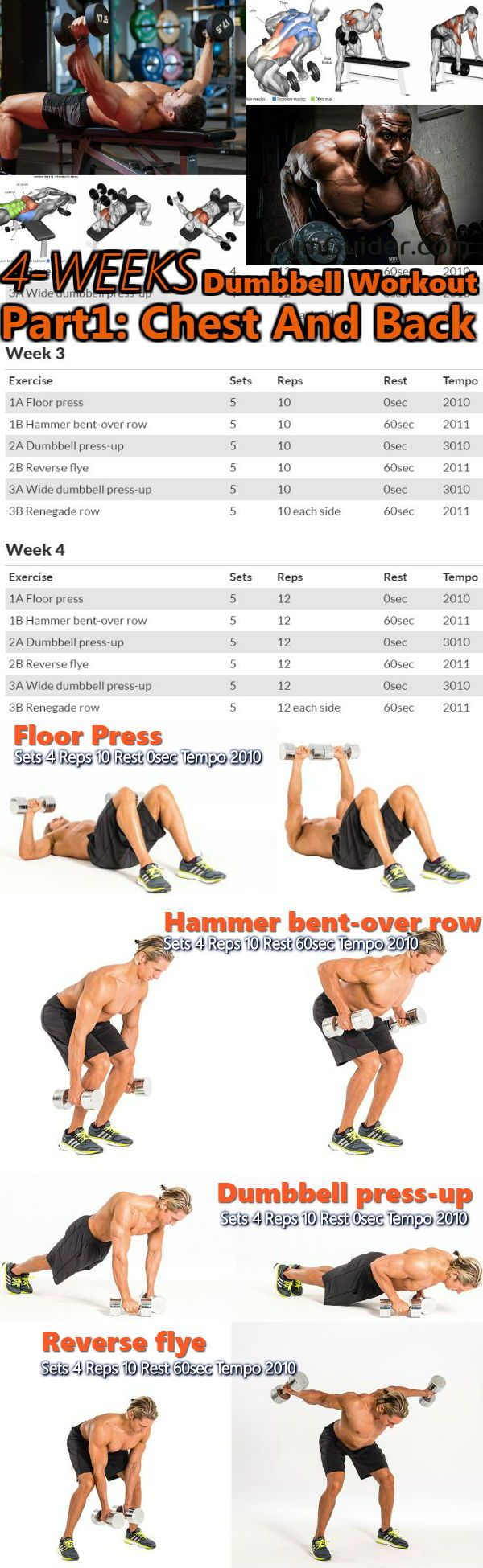 Chest and Back Giant Set Workout For A bigger Stronger
