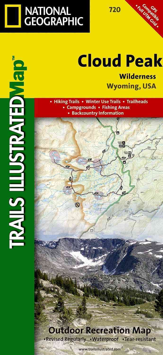 National Geographic Trails Illustrated Map Cloud Peak Wilderness - Trails illustrated maps