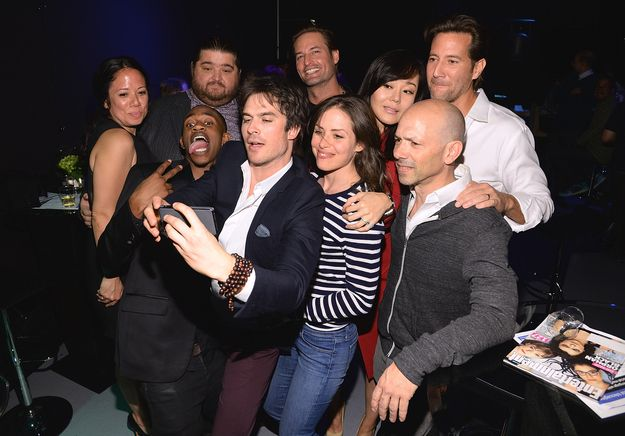 "Then they tried to take a selfie… | The ""Lost"" Cast Reunited And It Was A Beautiful Thing"