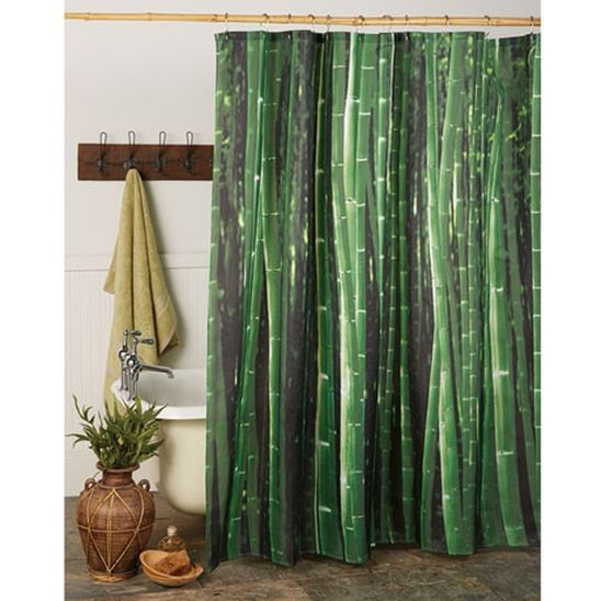 Bamboo Shower Curtain | Bamboo design and Dream bathrooms