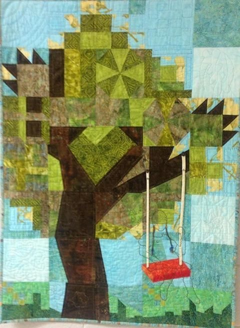 """""""Summertime and the Living is Easy"""" by Nicole Blackwell won a blue ribbon for Best Art Quilt at the 2013 Atlanta Quilt Festival"""