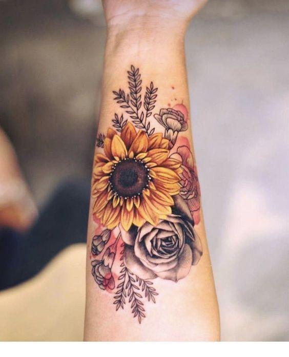 Photo of Sunflower tattoo  cute | Inspiring Ladies