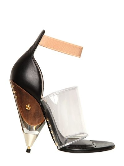 GIVENCHY - 120MM VINYL AND CALFSKIN SANDALS - LUISAVIAROMA - LUXURY SHOPPING WORLDWIDE SHIPPING - FLORENCE