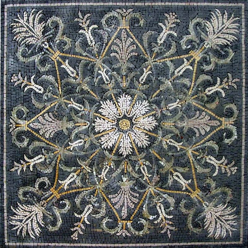 Pattern Mosaic Marble Rug. MG017 (310.00 USD) by Mozaico