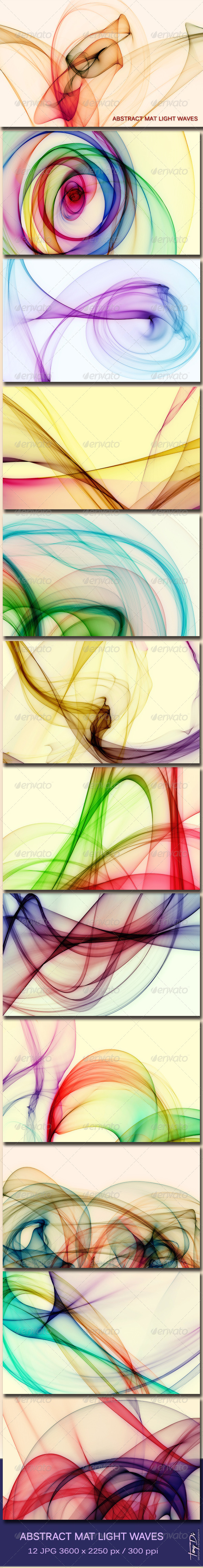 Abstract Mat Light Waves
