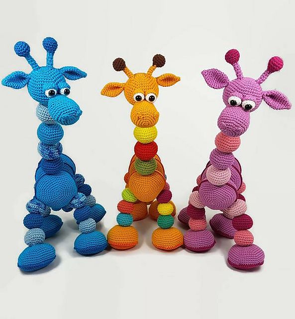 Ravelry: Amalka Giraffe pattern by Hippe Haaksels and Hana Prokopy ...