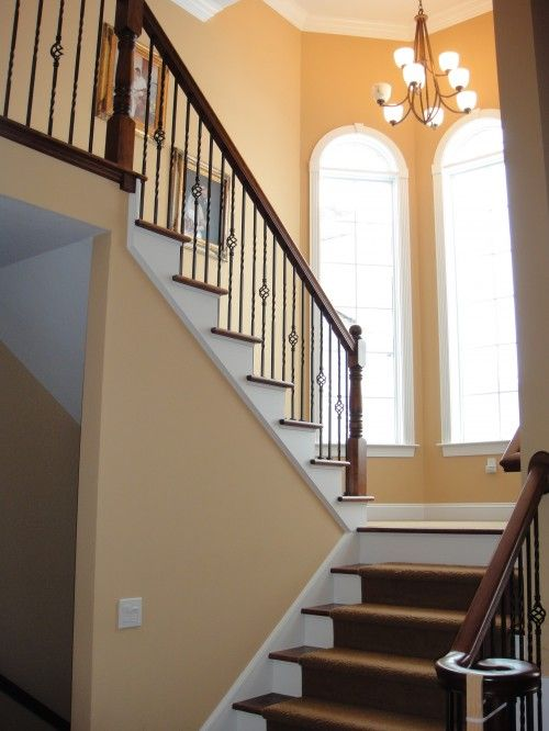 Stair Railing   Metal Bars Look Like The Ones Available At Home Depot