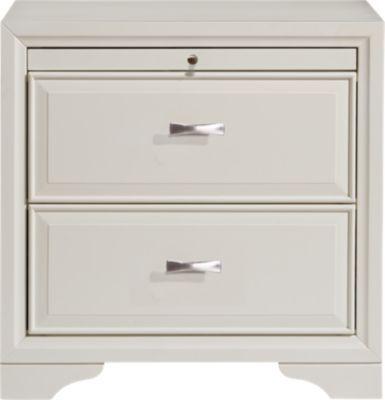 Belcourt White Nightstand White Nightstand Upholstered Bedroom