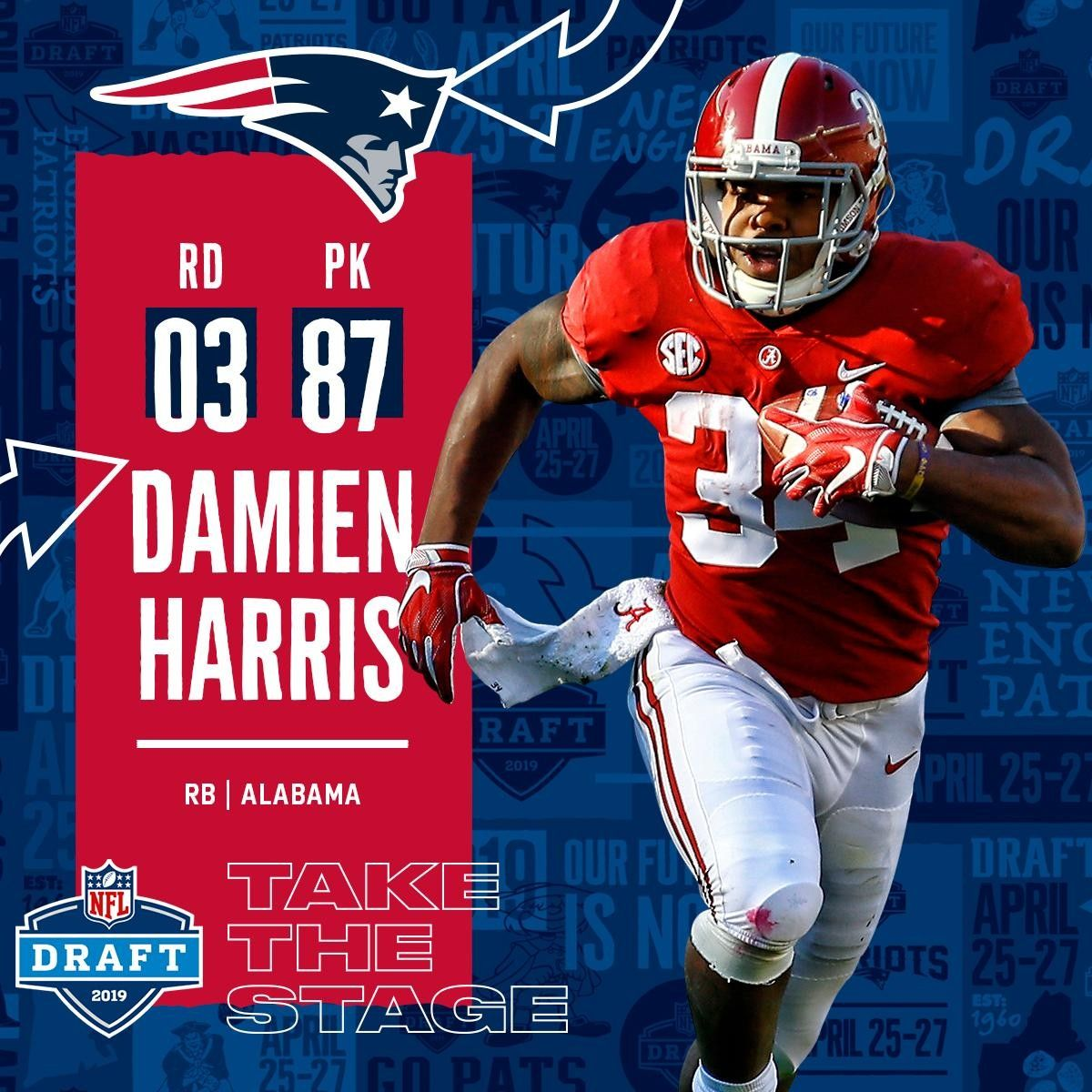 Damien Harris With Images Nfl Alabama Football Roll Tide Sports Memes