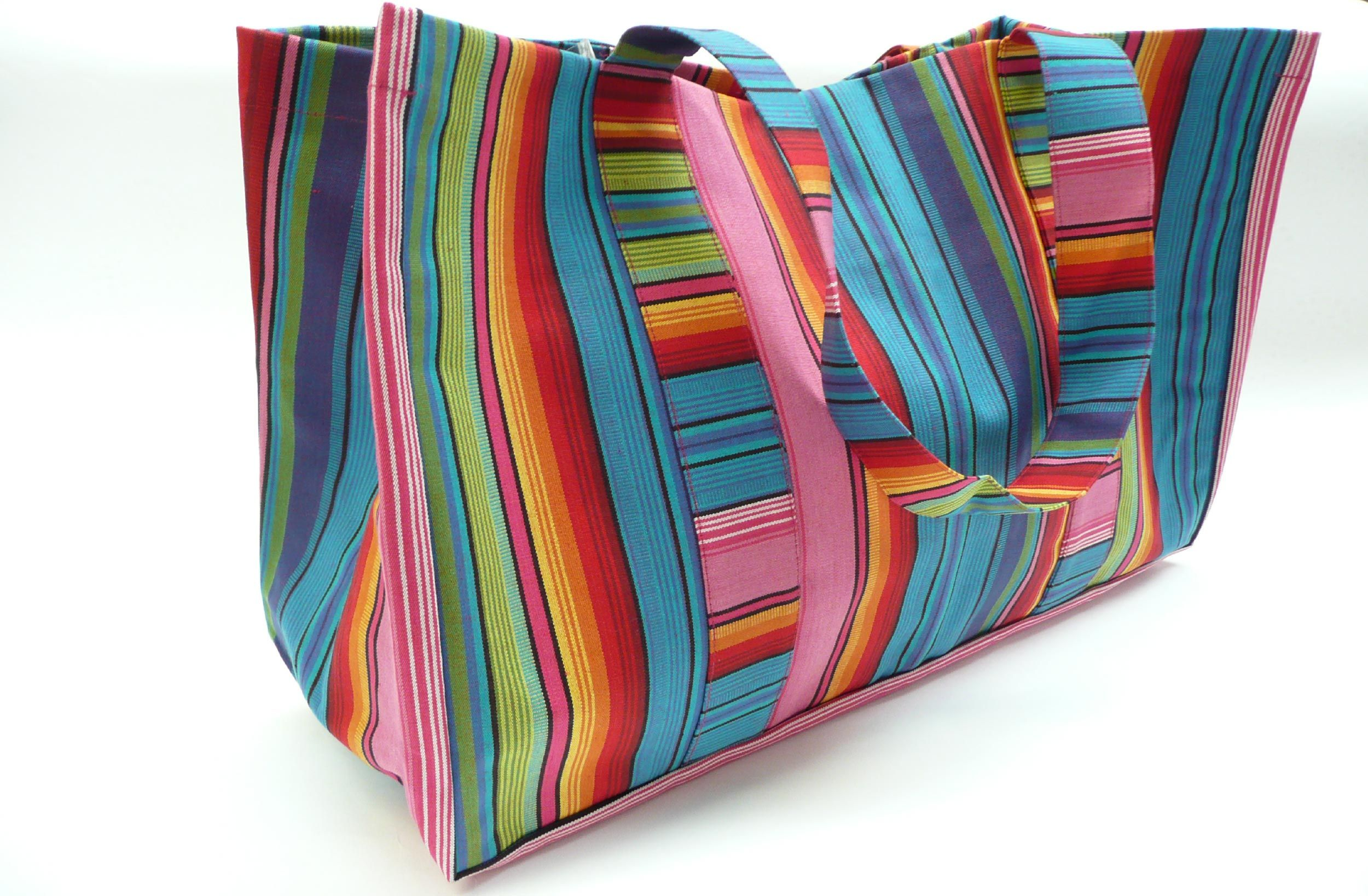 Extra Large Beach Bag With Waterproof Lining And Full Width Zipped Compartment